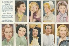 Cigarette Cards GALLAHERS: 1939 MY FAVOURITE PART (Full Set).