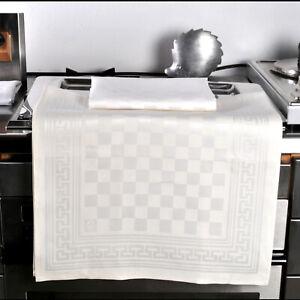 Leinen Geschirrtuch Küchentuch G - Karat 50 cm x 75 cm weiß DRIESSEN LEINEN