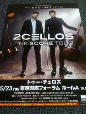 2 CELLOS / 2017 TOUR flyer / JAPAN