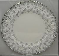 Spode Spode Fleur De Lys-Grey (Bone,Platinum Trim) Salad Plate (Imperfect)