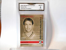 Patrick Roy GRADED CARD!!! 2006/07 ITG Between the pipes #143 HOFer!! 8-1