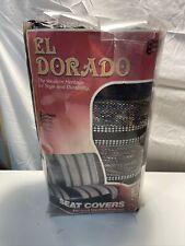 Nos Vtg 1 Multi Color Saddle Blanket Seat Cover Full Sz Truck Bench El Dorado