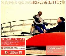 BREAD & BUTTER - SUMMER KNOWS - Japan CD - NEW