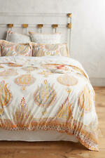 NEW Anthropologie Fortuna King Duvet Cover & Set 2 Euro Shams 100% Cotton NWT