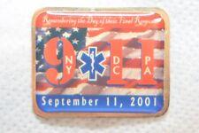 "SEPTEMBER 11, 2001 911 EMERGENCY FINAL RESPONSE NY DC PA 1 1/4"" METAL LAPEL PIN"