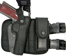 """RIGHT HAND TACTICAL THIGH RIG HOLSTER w/ MAGAZINE HOLDER for MOST 5"""" 1911 GUNS"""