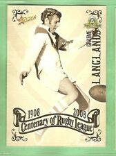 2008 RUGBY LEAGUE CENTENARY CARD #71  GRAEME LANGLANDS, ST GEORGE, WOLLONGONG