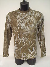 T-shirt girocollo tagliato Roberto Cavalli,colore verde giungla,tg 50.