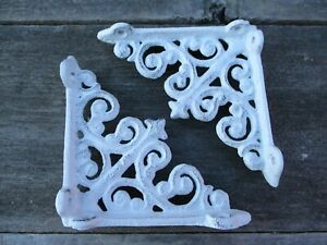 12 Antique Style Shelf Brace Wall Bracket Cast Iron Brackets SMALL White