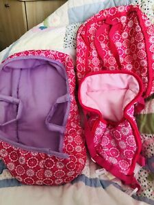 Carry Cot /Carrier /& Bag For 14 Inch Doll Fits Small Annabel /B Born Hardly Use