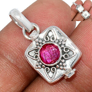 Poison - Ruby 925 Sterling Silver Pendant Jewelry BP98737
