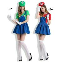 Adult Super Mario Costumes Women Luigi Bros Clothing Cosplay Costume Sets New