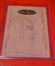 Lord of the Rings LOTR Topps Evolution Brent Woodside Gandalf SKETCH !!