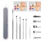 Ear Wax Removal Kit Cleaning Tool Earwax Pick Cleaner Remover Curette Spoon Set