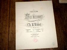 nuit d'étoiles poésie Théodore de Banville partition piano chant 1885 Widor
