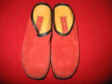 COLE HAAN, WOMEN'S COUNTRY CLOGS, SIZE: 7, COLOR: RED & BLACK, USED, VALUE:$150.