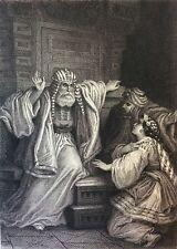 Orientalisme Le fanatisme  d'après Gustave Staal (1817-1882) gravé par Nargeot