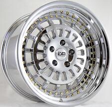 18X9.5 ESM 015 Rims 5X114.3 +15 Platinum Chrome Wheels (Set of 4)