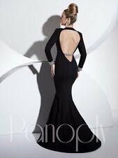 Panoply 44286 Red Carpet Winning Pageant Gown Dress in BlACK  sz 12