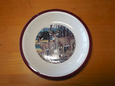 Canterbury Potteries MAJESTIC WHITE TAIL DEER Set of 4 Salad Plates 7 7/8 A