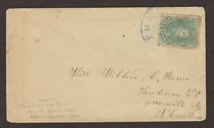 Confederate: Norfolk, Va CSA #1 Cover to Henderson, NC., Blue CDS