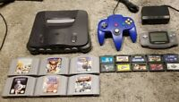 Nintendo 64 N64 GBA Gameboy Advance System Combo Bundle Lot With Games TESTED