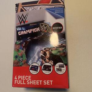 WWE Full Sheet Set Champion 4 Piece Bedding Set