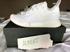 Adidas NMD R1 PK Primeknit White Gum Size 9.5 BY1888 yeezy ultra boost