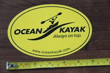 OCEAN KAYAKS STICKER Decal Kayak NEW Yellow
