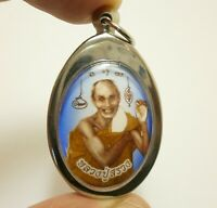 LP SUANG BLESS 1990s BUDDHA THAI MAGIC TAKRUT MIRACLE AMULET LUCKY RICH PENDANT