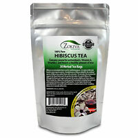 Hibiscus Tea 30 Bags 100% Natural Premium Antioxidant Rich Tea Resealable Pouch