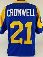 Nolan Cromwell Unsigned Custom Sewn Blue/Yellow Football Jersey Size-L, XL, 2XL