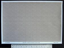 O gauge (1:48 scale) grey brick -  paper - A4 sheet