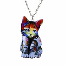 New Fashion Animal-themed Cute Cat Acrylic Necklace Pandent Jewelry Party Gift