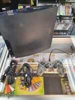 Sony PlayStation 3 PS3 Slim 120GB Console Complete Controllers TESTED CECH-2001A