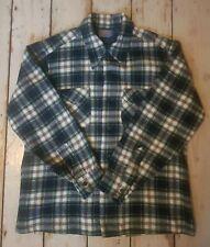 Vintage Pendleton Green & Blue Tartan Check Wool Shirt Large
