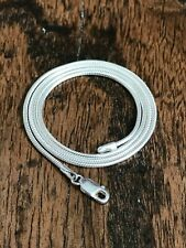 """925 Sterling Silver Snake Chain Necklace 18"""" 46cm ~ 7.48g ~  (D3L)"""