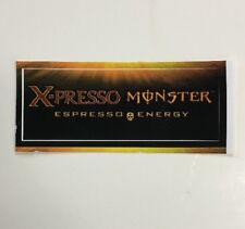 Monster X-presso Energy Drink Sticker (1) Unused NOS