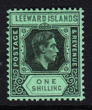 LEEWARD ISLANDS 1938-51 1/- BLACK & GREY SG 110bb MINT.