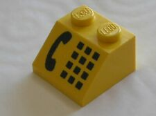 RARE telephone LEGO Yellow phone Slope Brick 3039p11 / Set 9364 6395