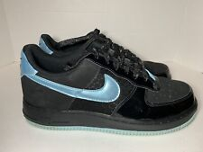 Nike Air Force 1 Low 314219 002 Black/ Blue youth Size 7 - women size 8