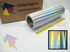 "12"" X 4ft - Silver Holographic -*LVG InterCal*- Craft & Hobby Vinyl Film"