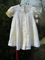 Will'beth Girls Size 12 month Smocked Yellow Boutique Heirloom Dress