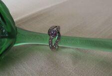 Damen Ring 925 Silber mit Markasit & Amethyst Sterlingsilber Ø 19 mm
