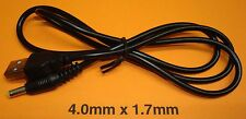 5V DC  2amp High Current Power Cable Data Cord Charger 4.0mm x 1.7mm to USB Plug