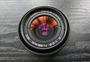CARL ZEISS JENA 28mm 2.8 Wide Angle Lens for PRAKTICA B PB Bayonet 35mm SLR fit