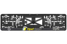 OPEL Sport 2xECHTE 3D-Effekt Kennzeichenhalter Nummernschildhalter