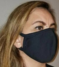 2 piece pack Made In Usa, Face mask mouth nose cover, 100% Cotton, cool fabric,