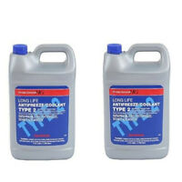 For Honda Acura Set of 2 Gallons Engine Coolant Antifreeze Type 2 Blue Genuine