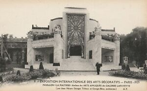 Original 1925 Paris Exposition des Arts Decoratifs Postcard Art Deco LA MAITRISE